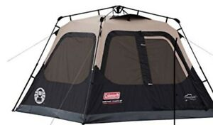 Coleman Instant Cabin Tent 4-Person w/ Easy Setup WeatherTec System for Camping