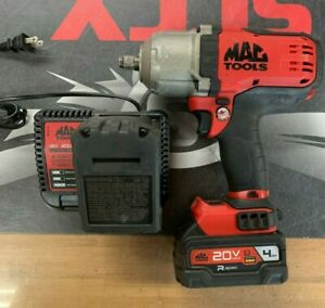 MAC Tools 1/2 Impact Wrench Set 20V BWP152 2 Batteries and Charger