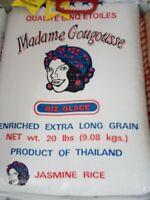 Madame Gougousse Enriched Extra Long Grain Jasmine Rice - 20 lbs