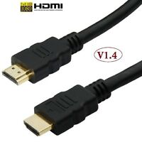 Gold Premium HDMI to HDMI High Speed Lead Cable HDTV LCD 3D Video Xbox 1080p UK