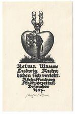 RICHARD ROTHER: Verlobungsanzeige Helma Mauer und Ludwig Kuhn, 1927
