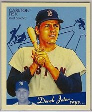 2008 Upper Deck Goudey #205 Carlton Fisk,  Rare Red-Back Mini NM/MT (Red Sox)
