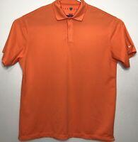 Nike Golf Mens 2XL Short Sleeve Orange Polo Shirt XXL A24