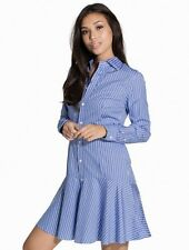 POLO RALPH LAUREN Alexis Striped Cotton Shirt Dress Sz 10 RRP £149