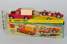 Corgi Gift Set 17 Land-Rover with Ferrari Racing Car on Trailer. Boxed. 1960's