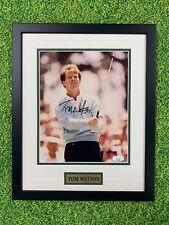 Tom Watson Signed 8x10 Jsa Auto Custom Framed PGA Major
