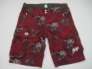 Mens XXL Maloja Rock & Roll BillM MTB Mountain Bike maroon floral cargo shorts