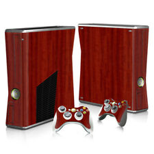 XBOX 360 Slim Skin Sticker Decal Cover 7 Choices WOOD GRAIN