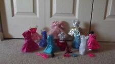 Barbie Dresses Lot of 10 With Shoes Plus Accessories Lot 18