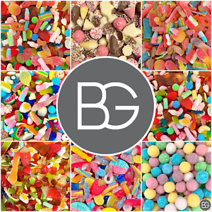 BG Quality Pick n Mix Sweets Pouches - Large Fresh Retro Candy Assortments