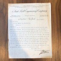 JOHN WAGNER BREWING LETTER -  Link-Belt Engineering Co - RARE - NEW YORK - 1903
