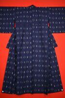 Vintage Japanese Kimono Wool Antique BORO KIMONO Kusakizome  Woven/VJ32/760