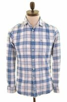 JACK WILLS Womens Flannel Shirt XS Blue Check Cotton  AZ11