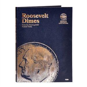 Whitman Blue Coin Folder 1939 Roosevelt Dime #3 2005-2022D  Album / Book 10 cent