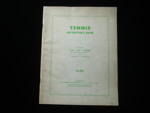 1958 Tennis Instructor's Guide EX