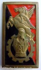 Insigne Génie 21° BATAILLON SAPEURS MECANICIENS Guerre d'Algérie AFN original 1