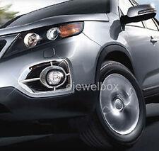 Chrome Fog Light Lamp Cover Molding Trim for 2011-2013 Kia Sorento R w/Tracking