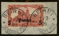 Germany 1905 Offices in Turkey 5Pi on 1 Mark Mi32A Unwmk Used BEIRUT 95873