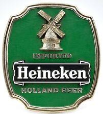 """Heineken Beer Vintage Plastic Advertising Sign / Counter Display 9.5"""" Tall"""
