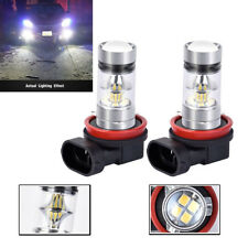 pair bright 100W  2323 H11/H8 6000K xenon white led bulb for car truck fog light