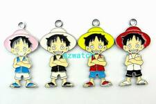 NEW 50 Pcs Mixed color One Piece Metal Charms pendants DIY Jewellery Making gift