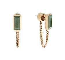 Michael Kors Urban Rush Gold Tone Jade Color Earrings MKJ5818710 NWT $85