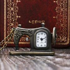 Sewing Machine Design Pocket Watch With Necklace Chain Men Women Children Gift