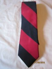 Jos A Banks Red and Blue Striped Silk Neck Tie