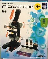 Educational 10 Piece Microscope Kit Science Kid Toy Set Gift NEW