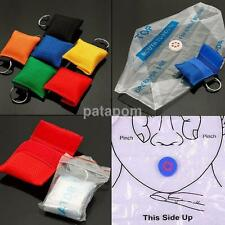 Multicolor CPR Mask Keychain Bag Emergency Face Shield First Aid Rescue bag kit