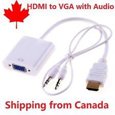 HDMI mâle vers VGA femelle avec Audio Converter Adaptateur projecteur écran A002