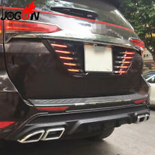 Rear Trunk License LED Braking Light Plate For Toyota Fortuner SW4 AN160 2016-19