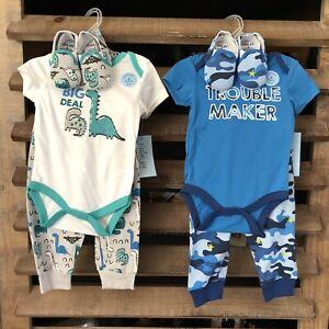 NWT Infant Boys Cutie Pie 3PC Outfits Bodysuit|Pants|Shoes CB-D21-22