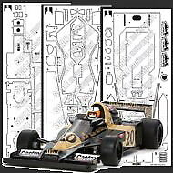 Scale Motorsport Photoetch Set for 1/12 Wolf WR1 F1 for Tamiya kit