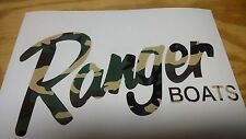 Ranger Boat decal set ( 2 decals ) Camoflauge