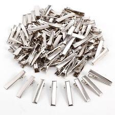 100 xDIY Silver Metal Girl Hair Clip Crocodile Alligator Teeth Bow Barrette 30mm