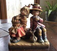 Vintage Anri Ferrandiz Hand Carved Limited Edition Boy & Girl Figurine 7�