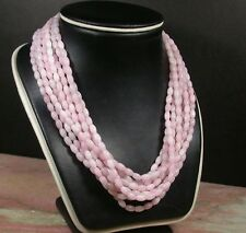 Pink Lavender 100% Natural A JADE Jadeite Bead beads Necklace 19inches 386467 US