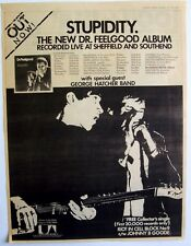DR. FEELGOOD 1976 Poster Ad STUPIDITY riot in cell block no.9