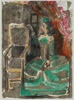 P. PICASSO (*1881), Frau i. grünem Kleid, 1959, Lichtdruck
