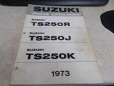OEM Suzuki Parts Catalogue 1973 TS250R TS250J TS250K