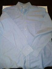Brooks Brothers Makers And Merchants Blue  Button Down Dress Shirt 16-34 EUC!