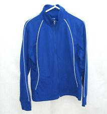 DANSKIN Women's Blue Long Sleeve Fitness Track Jacket (Size XL) Yoga Running Top