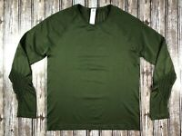 Women's Fabletics Dylana Seamless L/S Top Olive Green Size XL