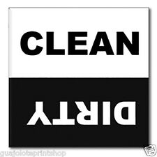 Clean Dirty Dishwasher Magnet - Black & White Novelty Housewarming Kitchen Gift