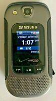 Samsung Cell Phone Convoy 3 SCH-U680 Black & Silver Bluetooth Verizon Rugged