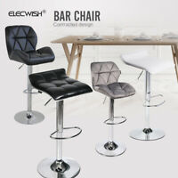 Swivel Adjustable Pub Bar Stool Counter Height Chair PU Leather Kitchen Bistro