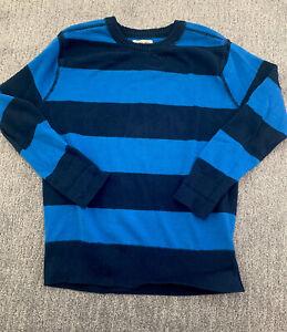 Cherokee Boys Pullover Crew Neck Sweater Sz L 12/14 Blue Stripe