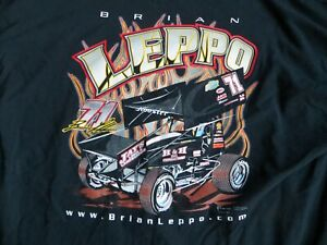 Brian Leppo #71 World of Outlaws PA Posse Sprint Car Shirt 2XL XXL NEW