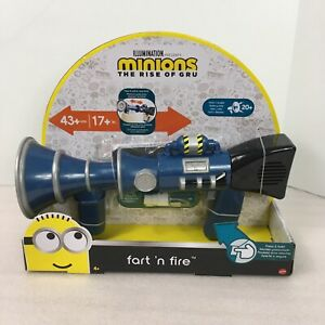 Minions The Rise Of Gru Fart N Fire Toy Gun Blaster Laughs Mist 20 Sounds Mattel